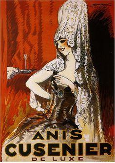 Anis Cusenier Liqueur Advertisement Art Poster Print