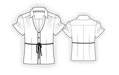 Blouse  - Sewing Pattern #4001 Made-to-measure sewing pattern from Lekala with free online download.