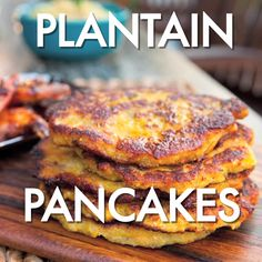 Ginger and green onion add zip to Guy's sweet Plantain Pancakes.