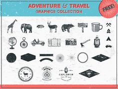 Adventure & travel graphic collection | #hipster #hand #drawn #freebie