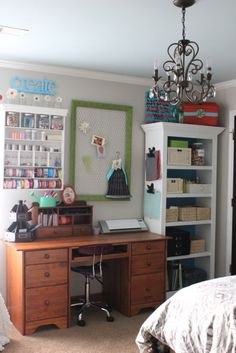 craft room storage ideas(kd use what I have repaint for uniformity)