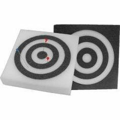 "2 Thick Self Healing Foam Blowgun Target - Black with White Rings by Avenger. $13.44. White - 12"" X 12"" SQUARE TARGET White with Black Circles 2"" Thick Self Healing Foam Blowgun Target.  For all pointed darts, even Soft Tip Darts."