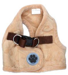 Lovely Heart Print Warm Pet Harness Vest Beige >>> For more information, visit image link.