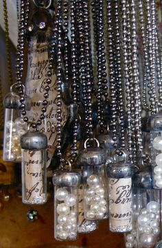 wine cork necklaces. This would be an automatic winO sign! Lol