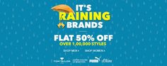 Jabong  It's Raining Brands  Flat 50% Off On Fashion Over 1,00,000 styles Goosedeals is leading destination for cashback coupons and best deals. Goosedeals offering some of the best deals and best products at very affordable prices, also our website is providing discounts with lowest prices. Grab best deals and cashback coupons More Details visit: http://goosedeals.com/stores/listing/jabong/12.html