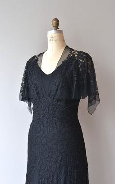 Valoria Seide Spitze Kleid 1930er Jahre Vintage von DearGolden