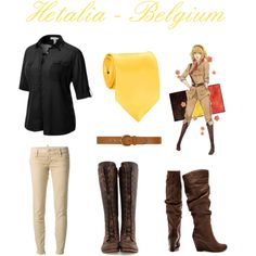 """Hetalia Belgium - Casual Cisplay"" by ak-hamilton on Polyvore"