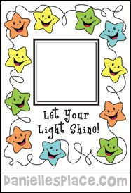 Let Your Light Shine! Picture Frame Sunday School Bible Crafr for Children from www.daniellesplace.com