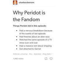 True, Steven Universe Peridot
