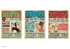 Vintage Xmas Retro Posters by pauloandlulu on Etsy