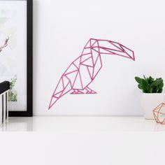 Origami Tukan Vogel aus Holz in vielen verschiedenen Farben erhältlich.