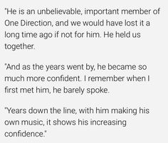 Niall talking about Louis and how much he means to One Direction