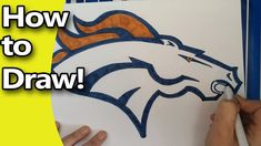 In this video I'll show you how to draw the Denver Broncos step by step! You can use this drawing to decorate for your Superbowl Party, you could. Denver Broncos Logo, Football Images, String Art, Drawings, Drawing Board, Youtube, Crafts, Soccer Pictures, Manualidades