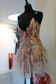 A Level Textiles - Kings Ely Paper Fashion, Fashion Art, Fashion Design, Fashion Textiles, World Of Wearable Art, Structured Fashion, Recycled Fashion, Fashion Sketchbook, A Level Textiles Sketchbook