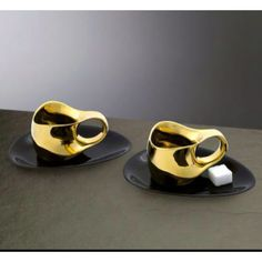 Luigi Colani expresso cup, completely gold-plated