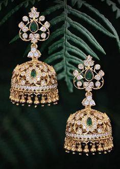 Tiny Earrings, Gold Earrings, Drop Earrings, Emerald Jewelry, Gold Jewelry, Jewellery, Jewelry Boards, Designer Earrings, Fashion Jewelry