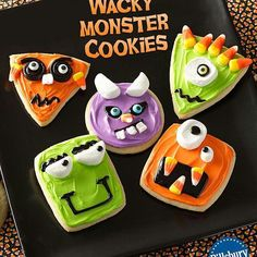 Monster cookies!! @notsosahm they are just sugar cookies made to look like little monsters  by briarrosesboutique