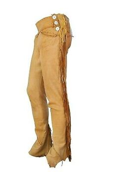 Men's Native American Genuine Buffalo Hippie Pants Fringe Trim Rough Description Made of Buffalo LeatherFringes Each side trim work 3 buttons each sidepremium Front Mens Leather Trousers, Suede Pants, Leather Men, Fringe Pants, Fringe Leather Jacket, Native American Moccasins, Native American Clothing, Mountain Man Clothing, Designer Joggers