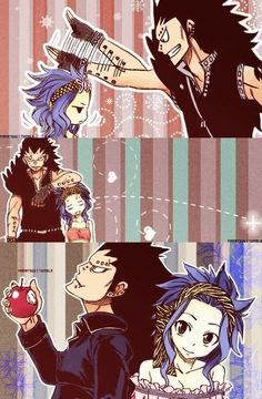 Gajeel and Levy - aww, I love this pairing!