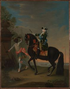 The Empress Elizabeth of Russia on Horseback, Attended by a Page by Georg Christoph Grooth, European Paintings Gift of Mr., 1978 Metropolitan Museum of Art,. Fine Art Prints, Canvas Prints, Framed Prints, Peter The Great, The Empress, European Paintings, Vintage Wall Art, Heritage Image, Metropolitan Museum