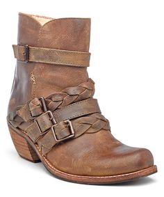 Look at this #zulilyfind! Tan Paz Leather Ankle Boot #zulilyfinds