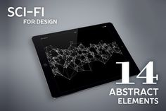 Abstract sci-fi elements for design by julvil on Creative Market