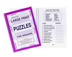 Picture of Large Print Puzzles for Seniors