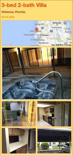 3-bed 2-bath Villa in Oldsmar, Florida ►$144,900 #PropertyForSale #RealEstate #Florida http://florida-magic.com/properties/72268-villa-for-sale-in-oldsmar-florida-with-3-bedroom-2-bathroom