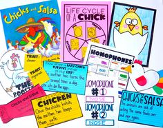 Chicks and Salsa Picture Book with the Life Cycle of a Chick, Homophones, and Character Traits