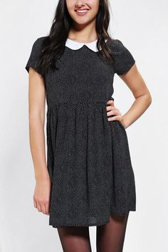 Peter pan collared babydoll dress designed by One & Only. #urbanoutfitters