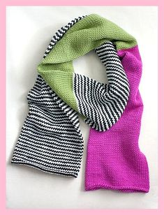 Knitting Patterns Scarf Ravelry: Color Block Scarf pattern by Heather Walpole.leather knitting with circular needle! Knitted Shawls, Crochet Scarves, Knit Crochet, Lace Shawls, Knitting Scarves, Knit Cowl, Hand Crochet, Crochet Double, Scarf Knit
