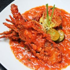 Singapore Style Chili Lobster with Spicy Sweet & Sour Sauce is finger licking good lobster!