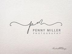 Signature logo, Initials Watermark, Handwritten logo, Photography logo, Premade logo design, Watermark 211