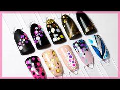 10 ИДЕЙ с КАМИФУБУКИ для ногтей. Маникюр конфетти, дизайн ногтей камифубики - YouTube