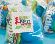 Jump! Printable Party Favor Gift Tag / Jumping Party / Trampoline Party / Bounce Party / Thanks for Coming / Jump On! / Instant Download