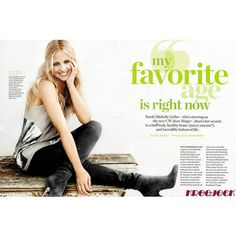 Sarah Michelle Gellar Health Magazine 3 ❤ liked on Polyvore featuring text, article, magazine, people, quotes, phrase and saying