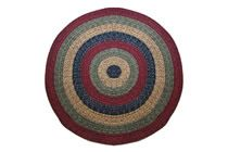 California - Country Sunset Round Braided Rug This high-quality braided rug is made by American workers at our family-owned business in the North Carolina Mountains. It is made from Naturalized Olefin, which is a synthetic, polypropylene yarn that is extremely durable, yet soft enough for use indoors. It is color fast and washable. Visit www.stroudbraided... for more details
