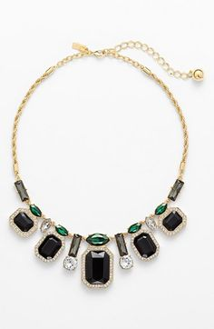 kate spade new york 'art deco gems' statement necklace available at #Nordstrom