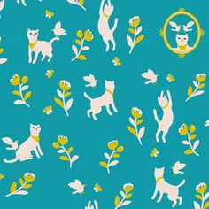 a  japanese illustrator and pattern designer anyan sha. His own fabric label called 'cotrienne'