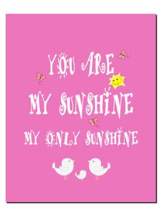 You Are My Sunshine Nursery Art Kids Wall Art Baby by vtdesigns