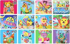 20 Diseños/lot 13*17 cm 3D de Espuma Eva Craft Etiqueta autoadhesiva Artesanía Juguetes Educativos de Aprendizaje para Niños de 3 6 años de la Serie HF en Puzzles de Juguetes y Aficiones en AliExpress.com | Alibaba Group