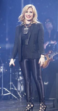Demi Lovato after a perfect and awesome performance!!!!