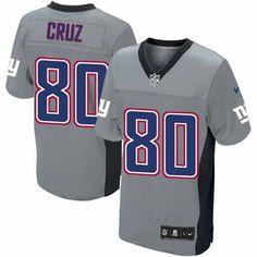 Nike Elite Men's New York Giants #80 Victor Cruz Grey Shadow NFL Jersey