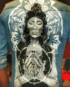 Painted jacket Mayas @expressmade