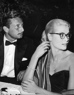 Actress and Princess of Monaco, Grace Kelly (1929-1982), pictured right, date unknown.