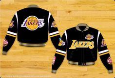 NBA Los Angeles Lakers Twill Jacket #Lakers #LosAngeles #Jacket #NBA #JHDesign