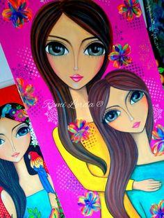 Art Journal Inspiration, Painting Inspiration, Portrait Art, Portraits, Eye Art, Whimsical Art, Fabric Painting, Unique Art, Art Girl
