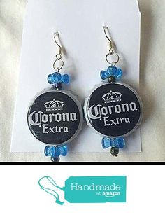 Corona Extra Blue White and Blue Tribead Upcycled Bottlecap Earrings from Southern Women Crafts https://www.amazon.com/dp/B01GW4KSNG/ref=hnd_sw_r_pi_dp_Rs6Ixb1EZXFXH #handmadeatamazon