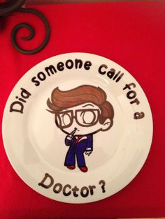 Dr who inspired plate (1114)