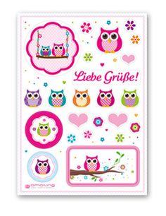 Sticker Eulen bei www.party-princess.de